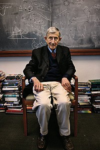Freeman Dyson at work