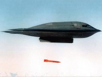 USAF B-2 Spirit dropping B61 bomb