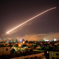 Missile over Syria